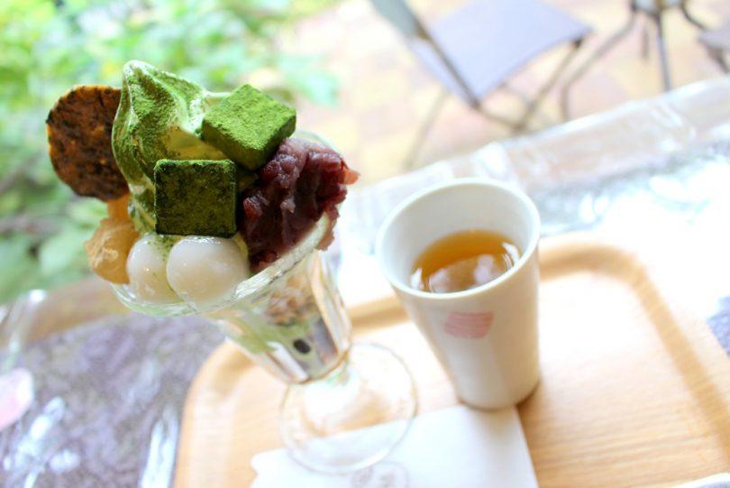 カフェ茶緑の和風パフェ