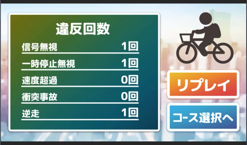 ゲーム感覚で自転車のルールを学ぶ