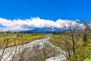 万内川と妙高山