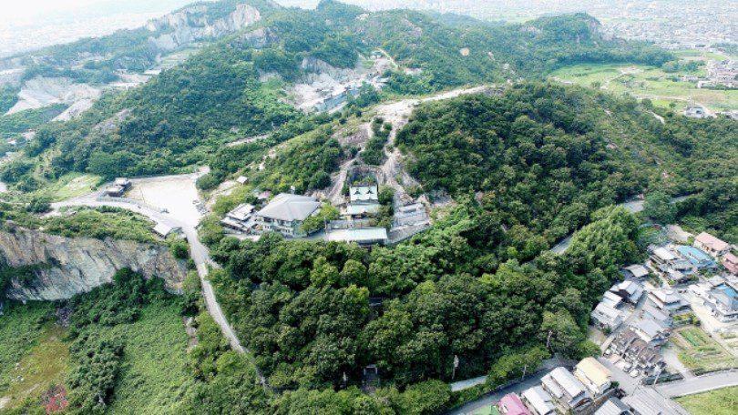 上空から見た神社