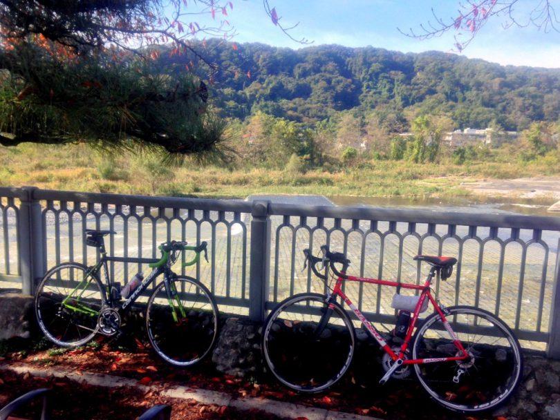 多摩川サイクリングロードで羽村取水堰へ