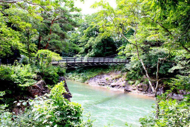 厳美渓 吊橋