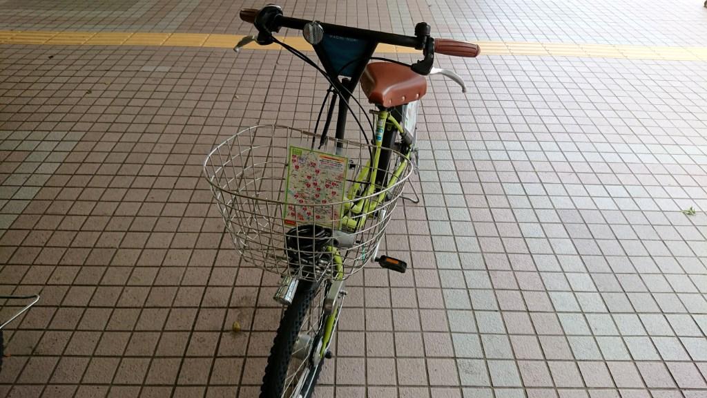 金沢_まちのり_借りた自転車2