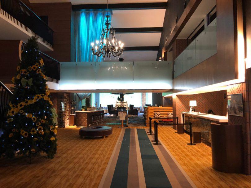 ホテルの内装