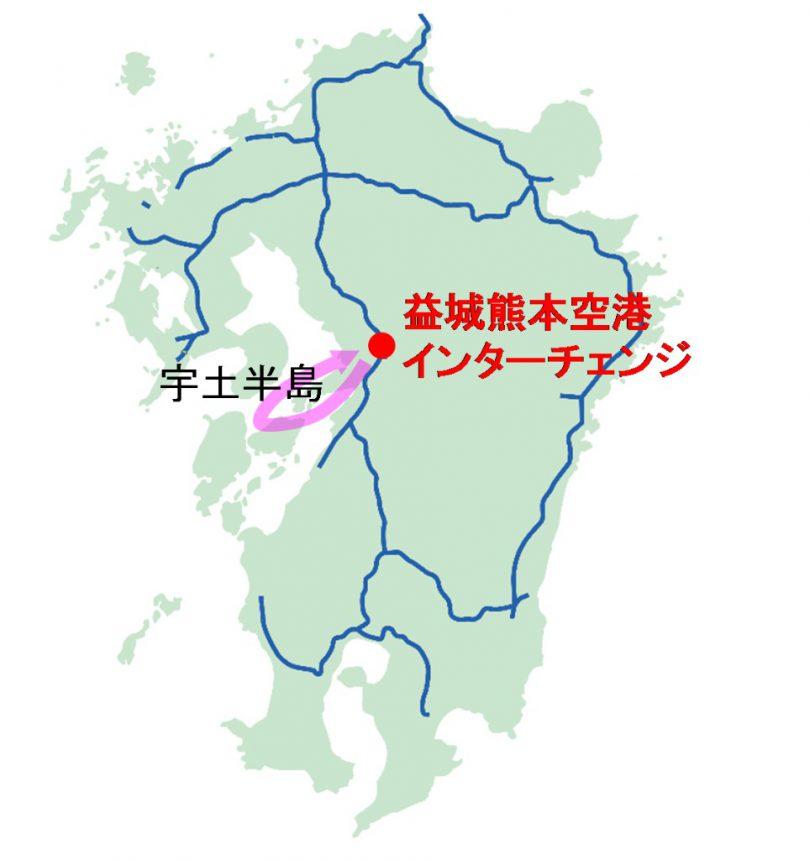 宇土半島位置図