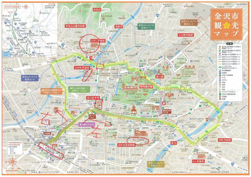金沢市観光マップ