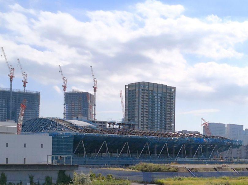 建設が進む有明体操競技場
