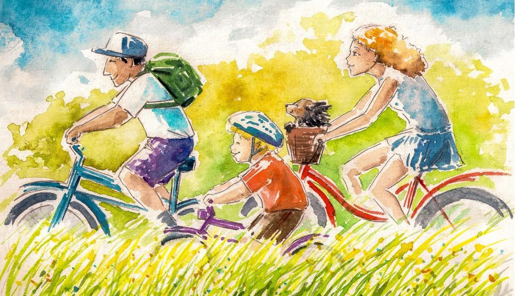 自転車はハッピーな乗り物