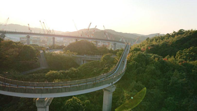来島海峡大橋 スロープ