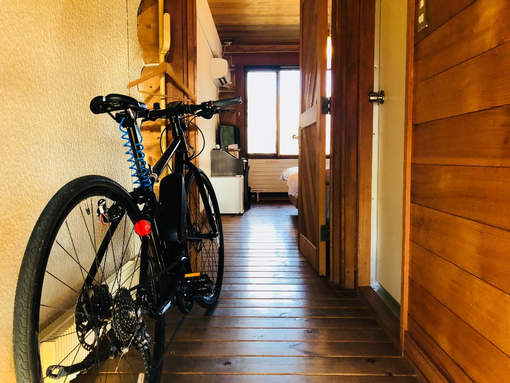ルポゼ白馬さんは部屋に自転車を持ち込めます