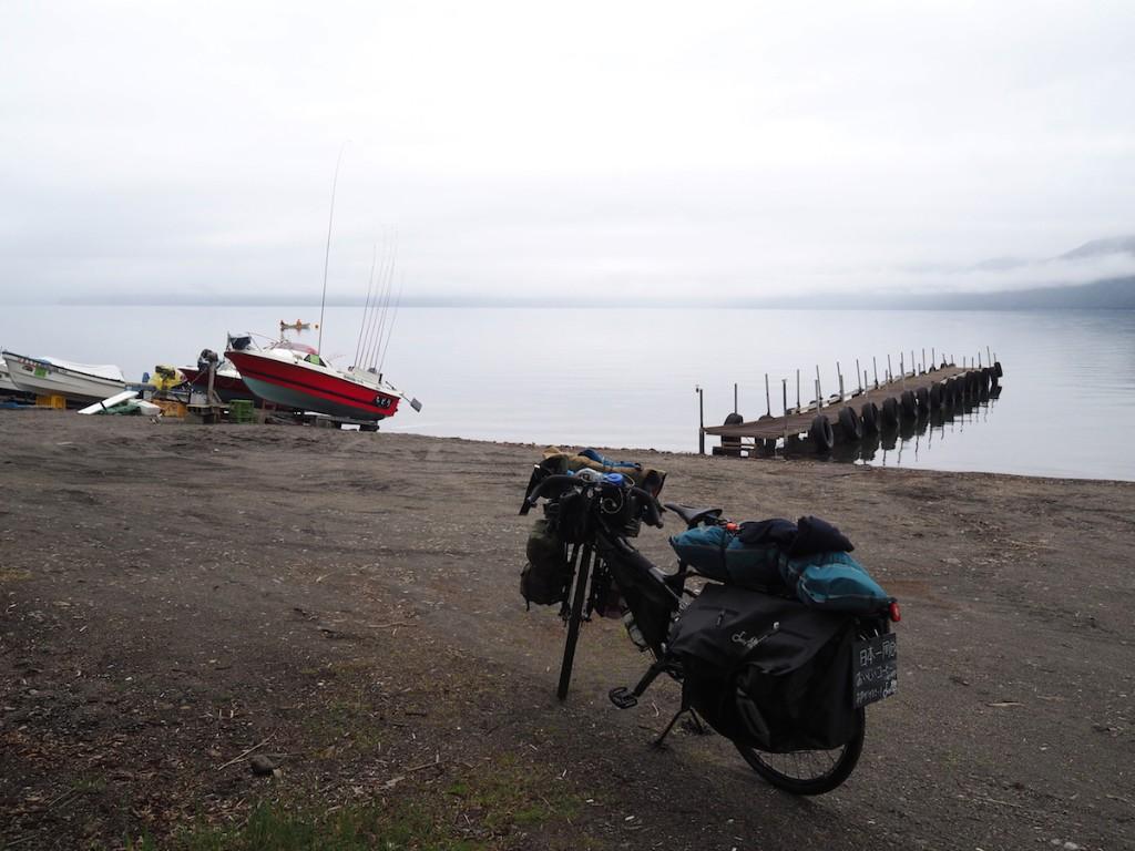 海と自転車