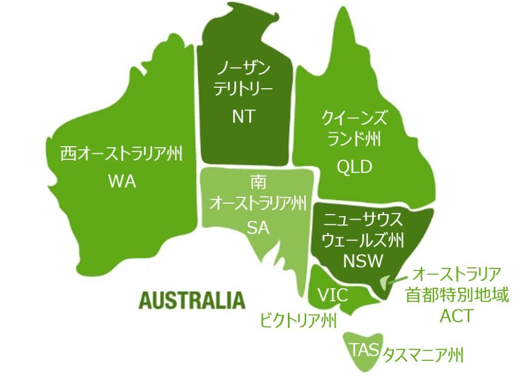 オーストラリアの州区分