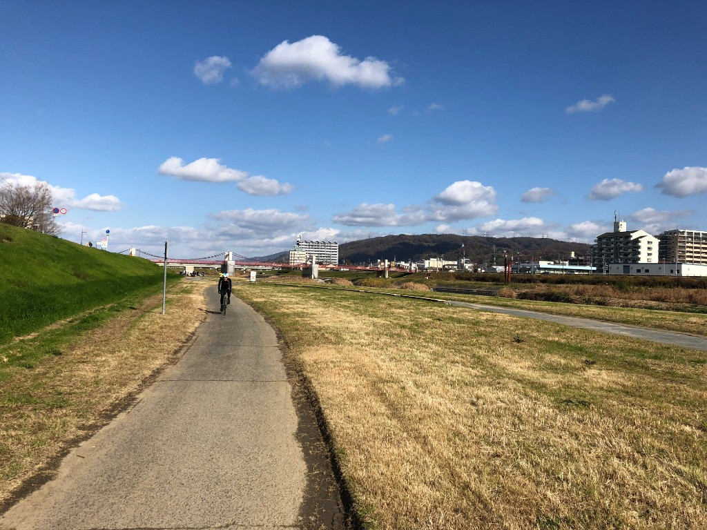 南河内サイクリングロード(石川)をのんびりサイクリング