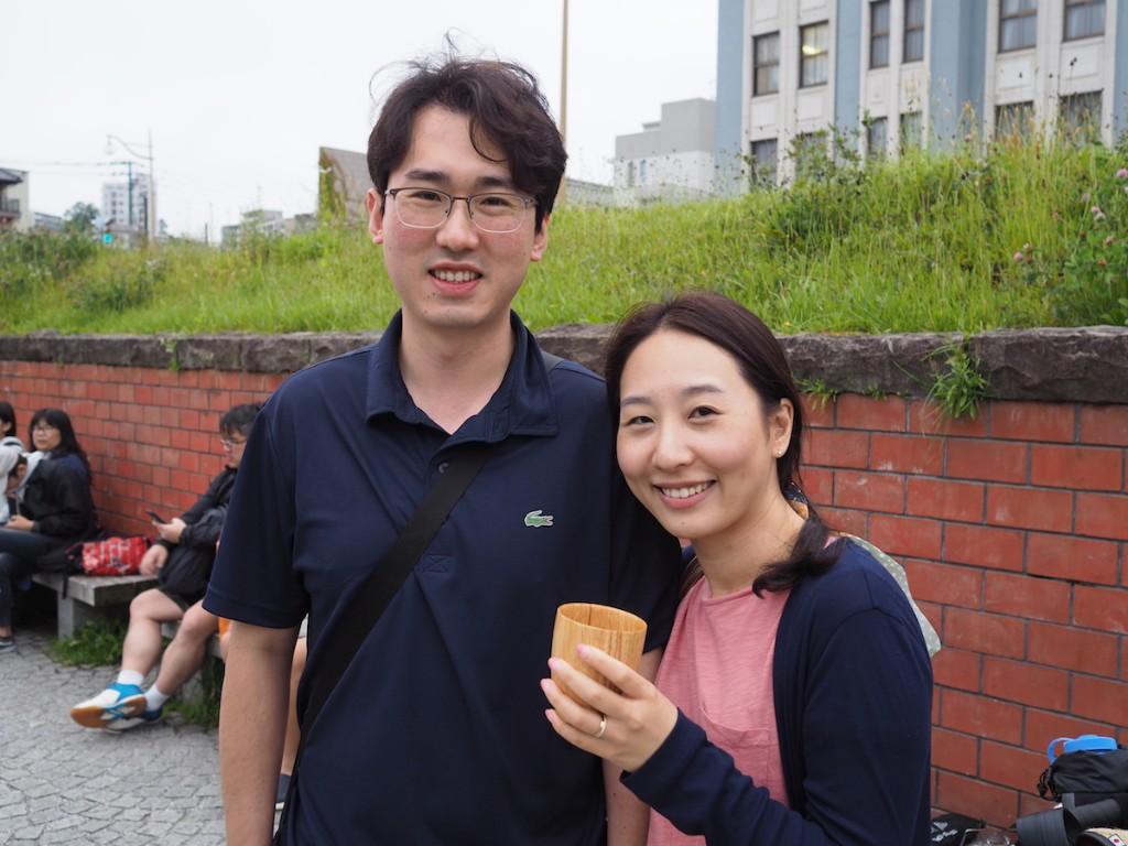 韓国からの新婚旅行カップル