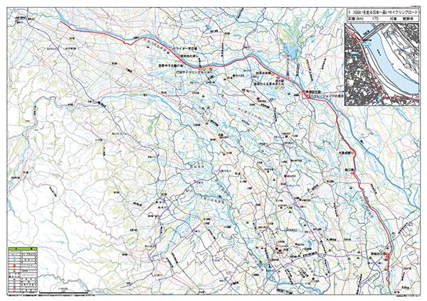 01.川沿いを走る日本一長いサイクリングロード