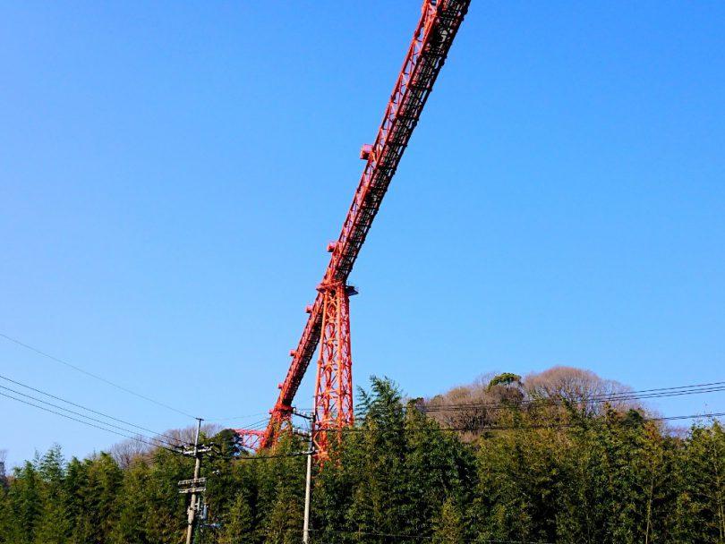 高松空港の進入灯橋梁