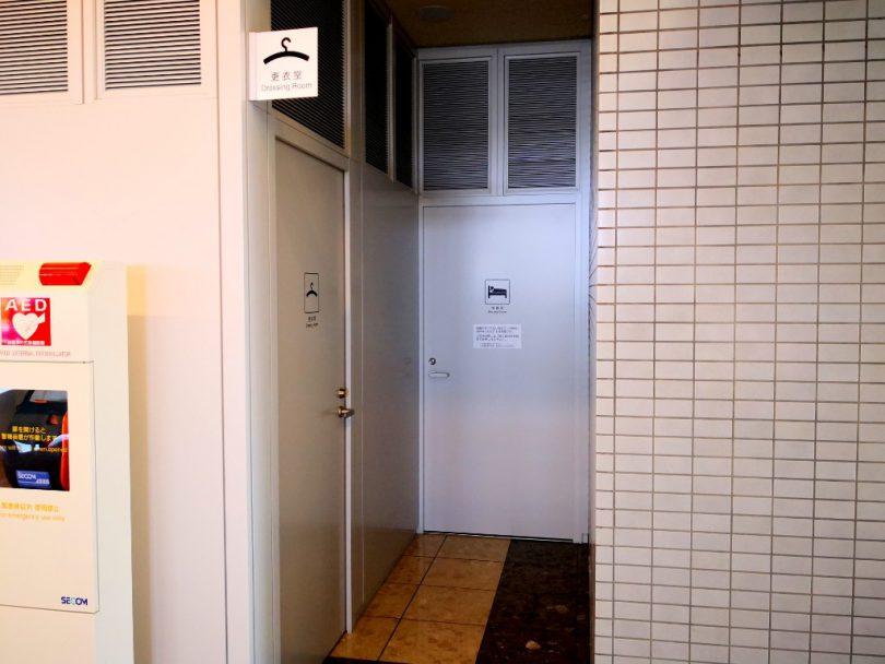 山口宇部空港-更衣室