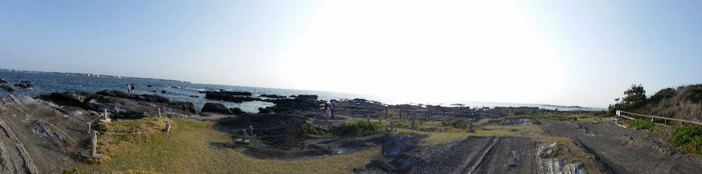 天神島の岩場