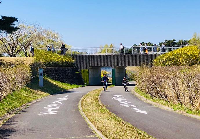 サイクリングコースがある公園