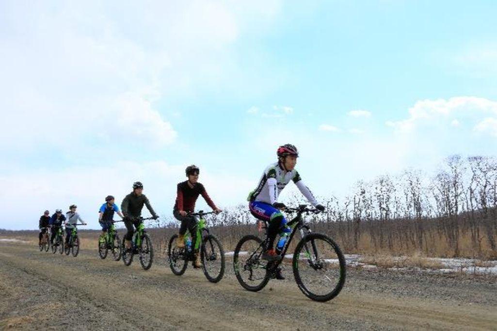 釧路湿原国立公園の中を E バイクで散走