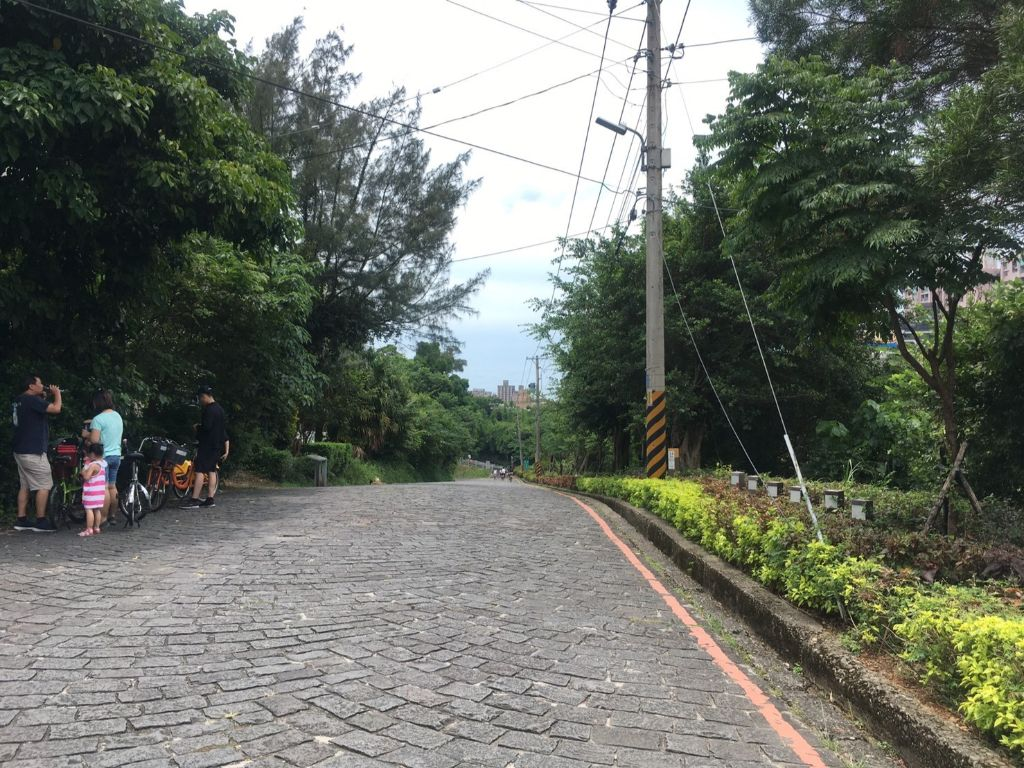 老街手前の数百メートル区間は石畳