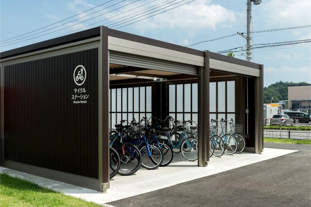 道の駅むつざわ、つどいの郷、サイクルステーション、ロードバイク、電動アシスト付自転車
