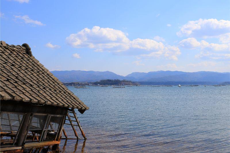 【加茂湖】加茂湖 カキ イカダ