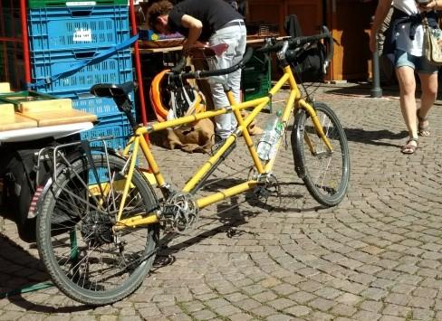 タンデム自転車があるレンタサイクル