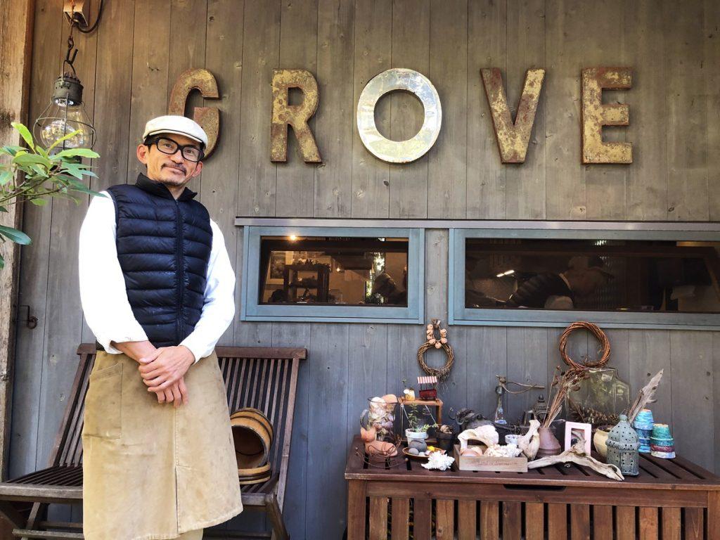 Cafe GROVE、オーナー、濱本智之