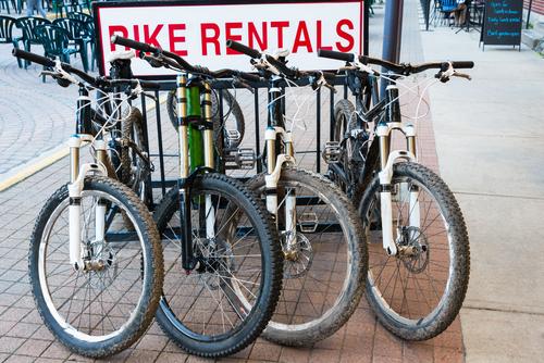 マウンテンバイクがあるレンタサイクル
