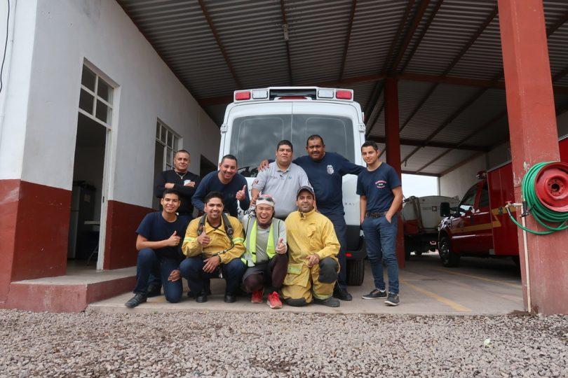 泊めてくれた消防署。バハ・カルフォルニア(メキシコ)